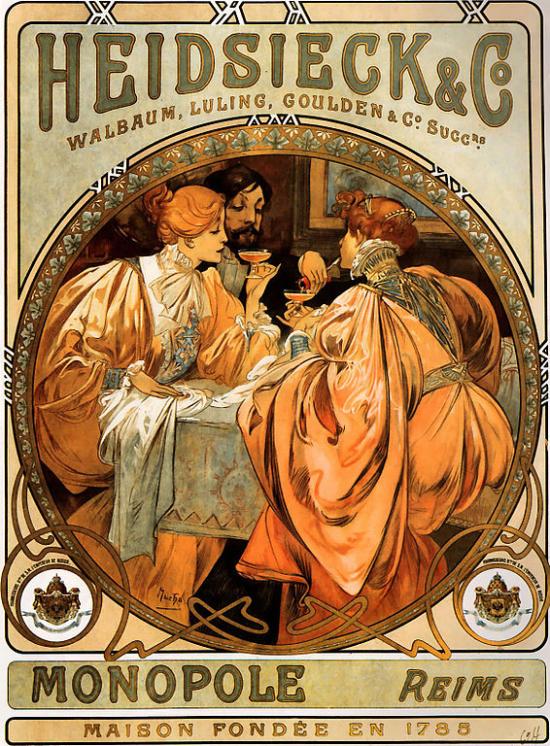 Heidsieck and Co., de Alfons Mucha