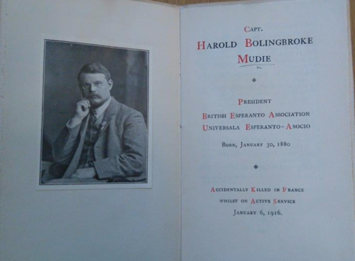 """Title-page of '""""H.B.M"""". An Appeciation' with a frontispiece portrait of Mudie"""