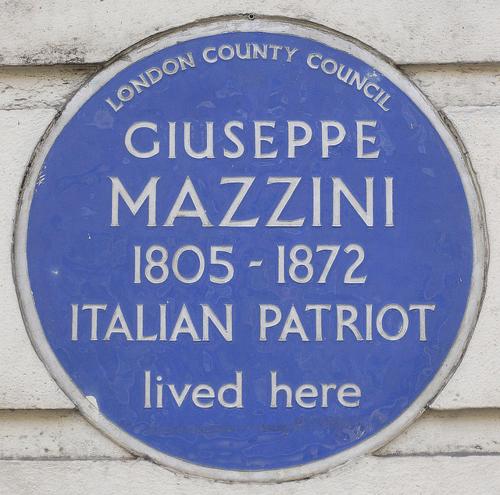 Mazzini plaque