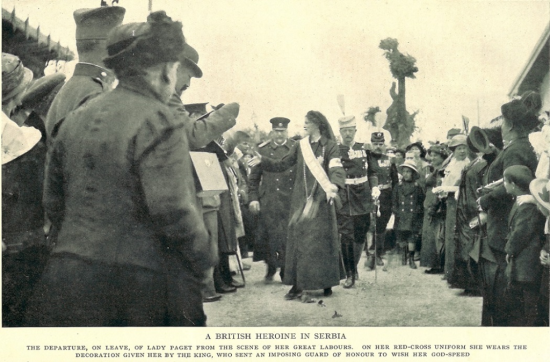 VII Lady Paget leaving Skopje