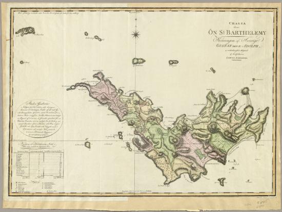 St Barthelemy map 1801