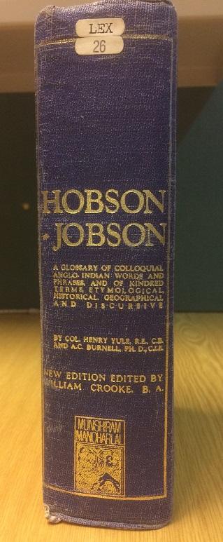Hobson-Jobson spine