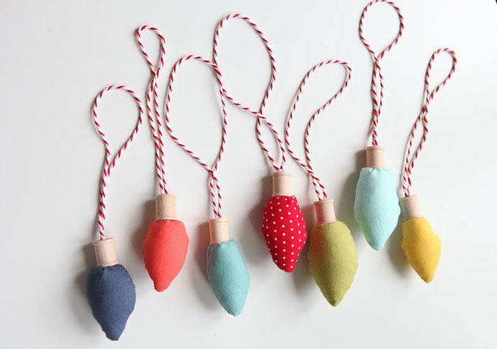 Fabric Bulb Ornaments