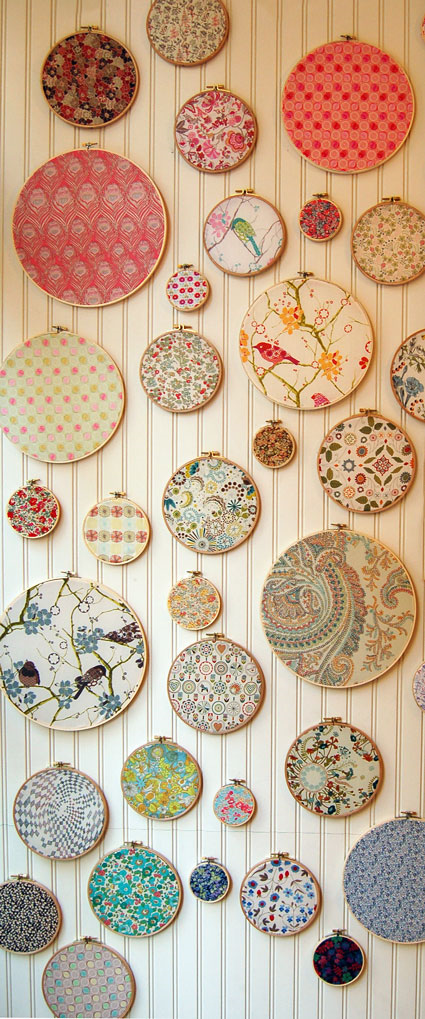 Embroidery hoop-framed Fabrics