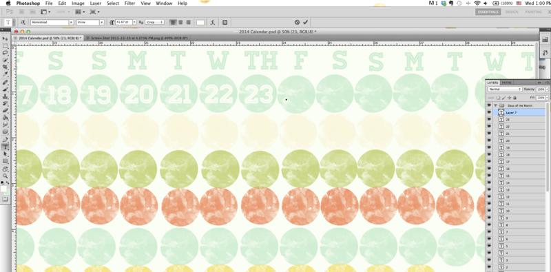 Creating 2014 calendar