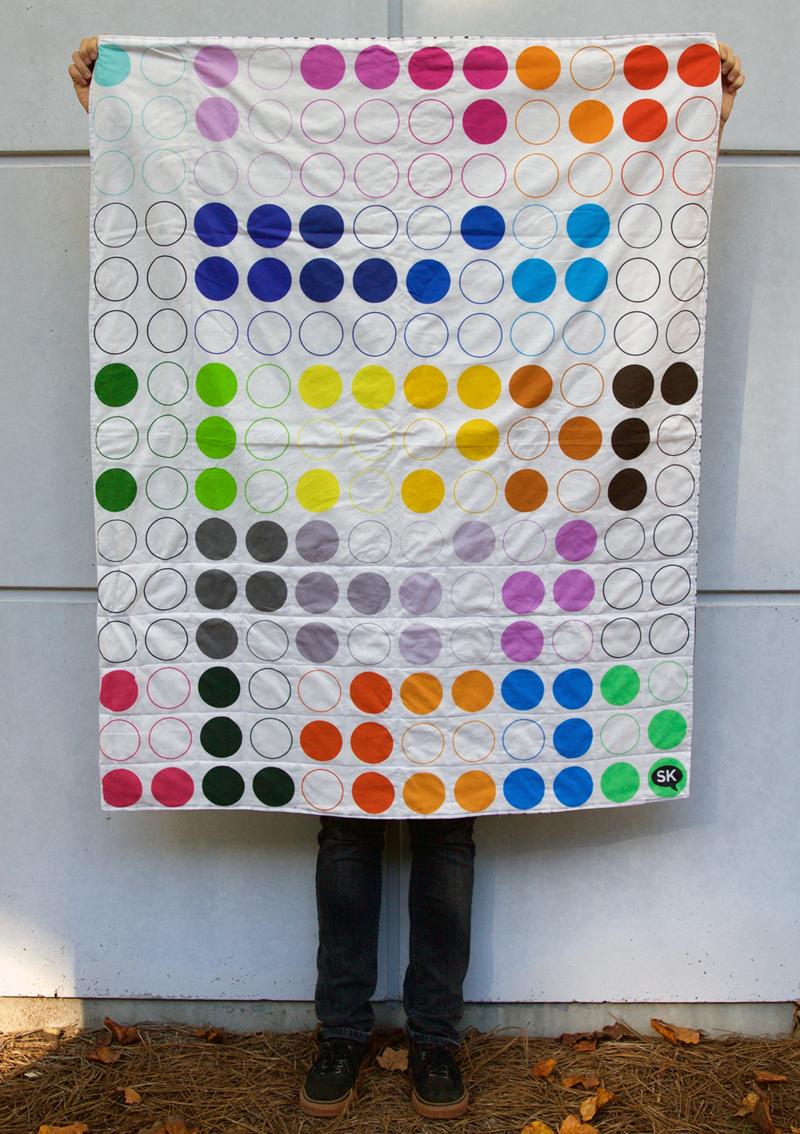 DIY Braille Alphabet Quilt