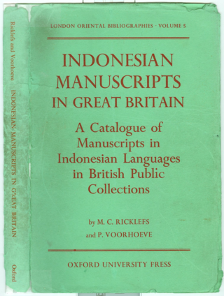 Front cover of Ricklefs & Voorhoeve (1977).