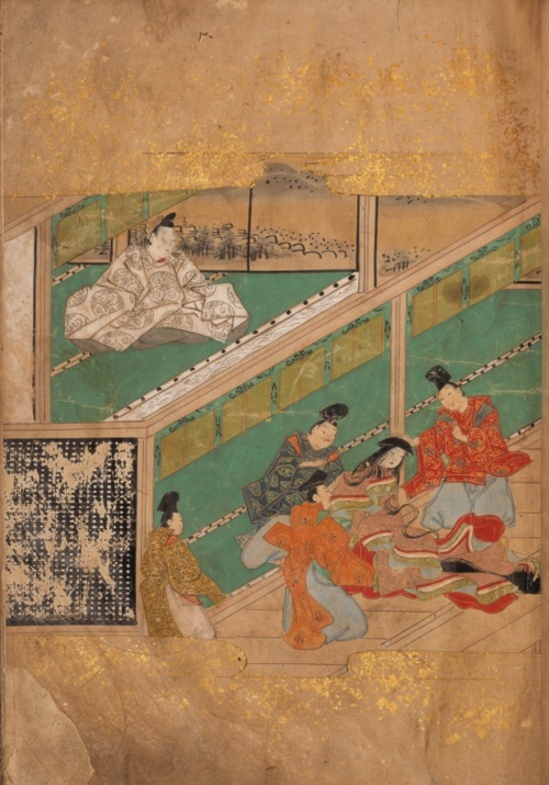 'The girl with a kneading bowl' (Hachikazuki 鉢かづき), early Edo period (ca. 17th century). Naraehon manuscript. British Library, Or.12897.