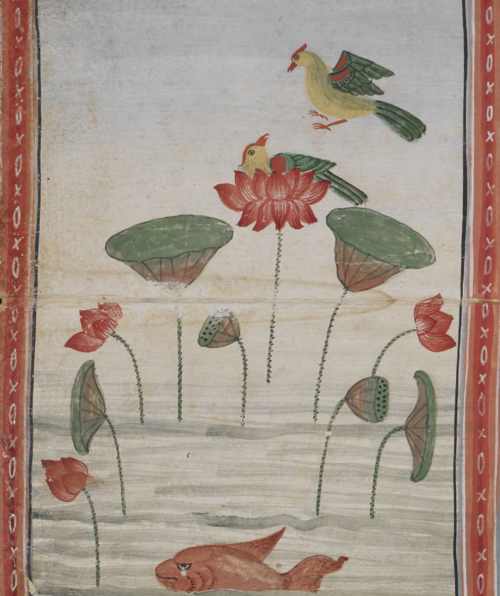 Illustration from a collection of Buddhist texts and Sutras contained in a Thai folding book from the 18th century, British Library, Or. 14027, f. 66