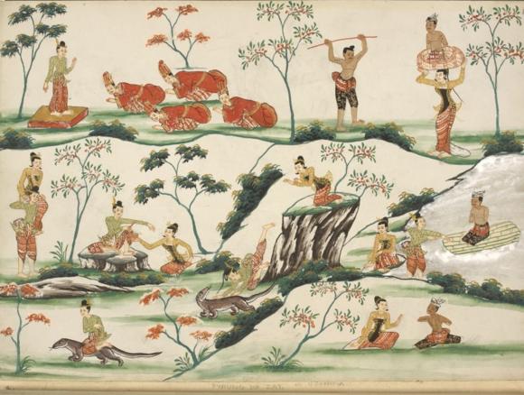 Paduma zat. British Library, Or. 3676, f. 8