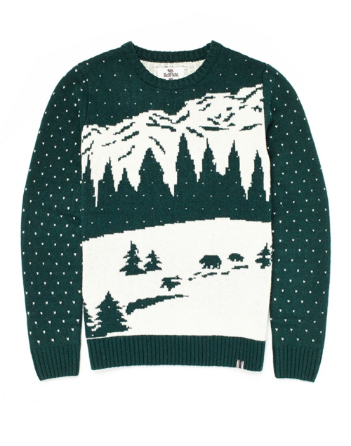 Theidleman.com bellfield_asio_jumper_with_mountain_jacquard_green_750