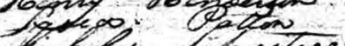 1820 Census Lydia Patton entry