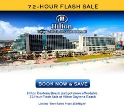 72 hour sale Hilton Daytona Beach