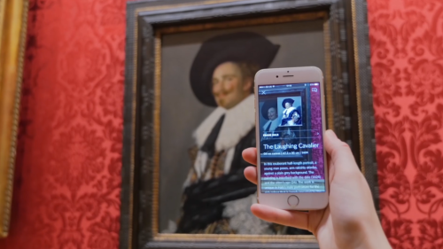 Smartify user scanning Frans Hals's The Laughing Cavalier (1624) at The Wallace Collection, London