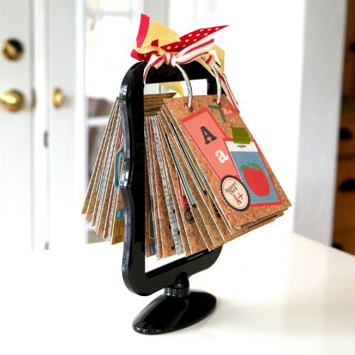 "ABC Flip Chart (Mini Album) by designer Courtney Lee for Echo Park Paper, with the ""Teacher's Pet"" Collection"