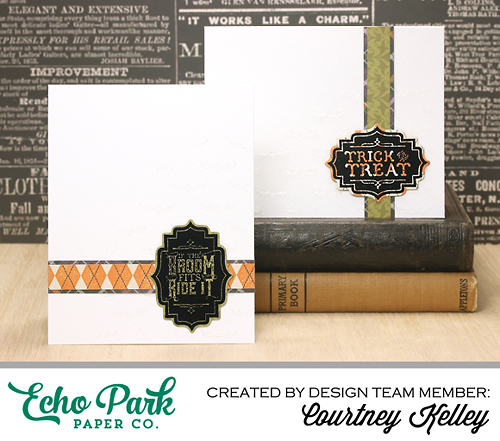 "Hocus Pocus Label Cards by Courtney Kelley with the ""Hocus Pocus"" collection and Designer Dies from #EchoParkPaper"
