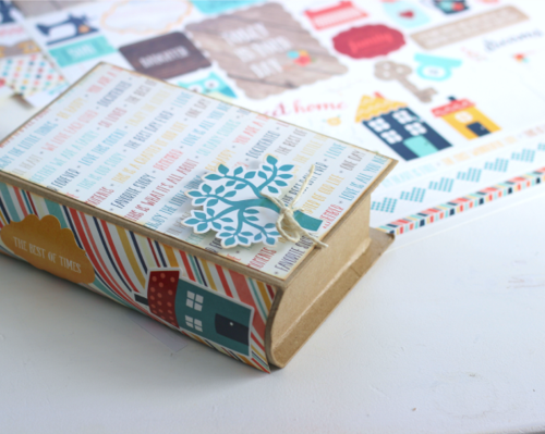 "Paper Mache Photo Book/Box by Holly Gagnon using our ""The Story of Our Family"" collection from #EchoParkPaper"