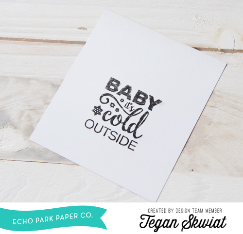 """Baby, it's Cold Outside!  A Tutorial for creating this set of sweet stamped snowman cards by Tegan Skwiat featuring the """"Hello Winter"""" collection (along with designer dies and designer stamps) is on the #EchoParkPaper blog!"""