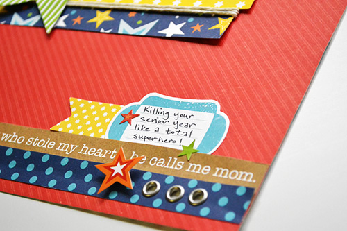 """Superhero Scrapbook Layout by Aly Dosdall with the """"Little Man"""" collection by #EchoParkPaper"""