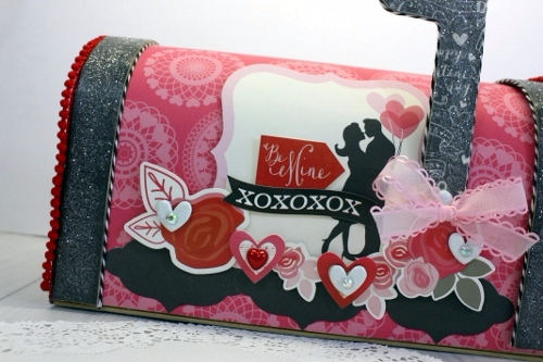"""Blowing Kisses"" Altered Valentine Mailbox by Shellye McDaniel for #EchoParkPaper"