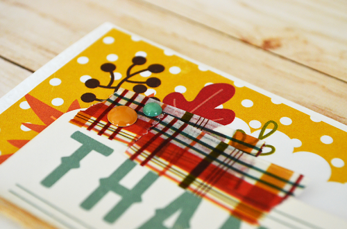 "Autumn fox  ""thanks"" card by @wendysue for #EchoParkPaper with their ""Fall is in the Air"" collection and #designerdie"