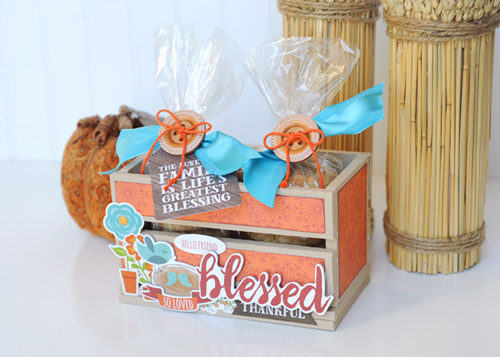 "Cookie Crate Gift by Jana Eubank with the ""I Love Family"" Collection by #EchoParkPaper"