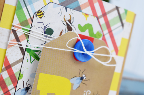 "Bug Card by Becki Adams with the ""Bug Collection"" mini theme kit by @EchoParkPaper"