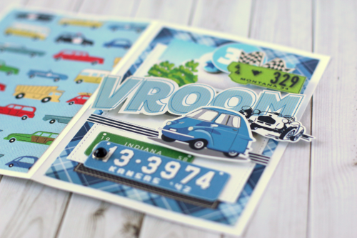 """Vroom"" card by Anya Lunchenko with the ""Cartopia"" collection by #CartaBellaPaper"