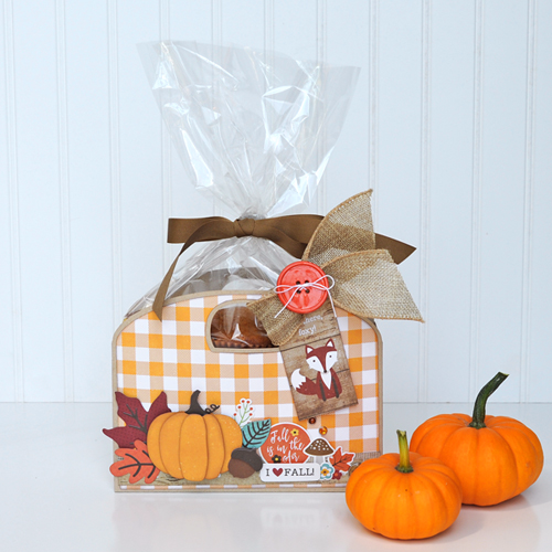 A Perfect Autumn Muffin Tote by Jana Eubank for #EchoParkPaper and #CartaBellaPaper
