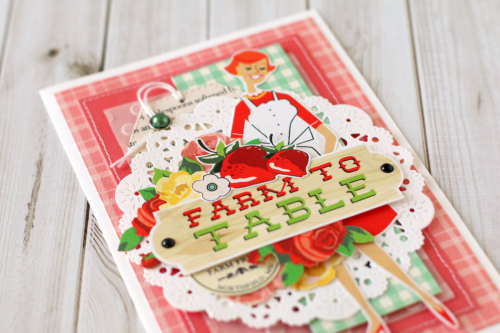 """Farm to Table card by Anya Lunchenko with the """"Welcome Home"""" collection by #CartaBellaPaper"""
