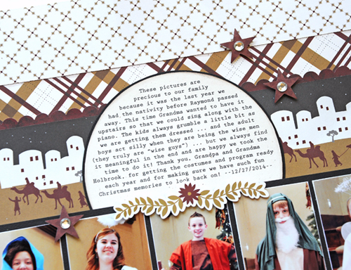 """Two Page Christmas Layout by Jana Eubank with the """"Wise Men Still Seek Him"""" collection by #EchoParkPaper"""