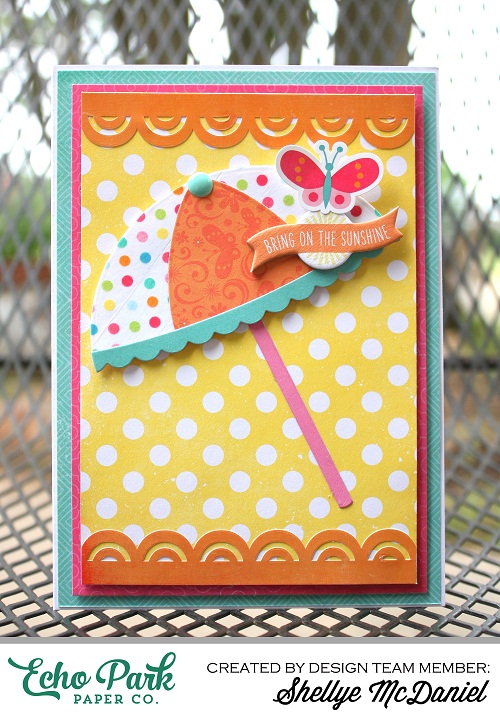"""Creative use of Decorative Tape by Shellye McDaniel using the """"I Love Summer"""" collection by #echoparkpaper"""