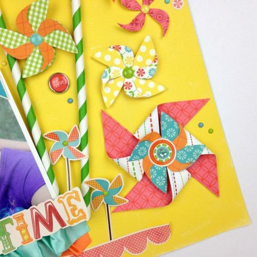 """Sweet Summertime"" pinwheel layout by Tania Willis for #EchoParkPaper"