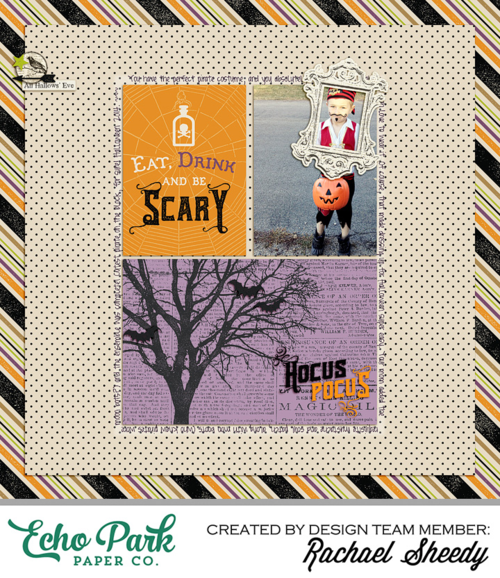 """Digital layout by Rachael Sheedy featuring the """"Hocus Pocus"""" Collection by #EchoParkPaper available at Snap, Click, Supply Company!"""
