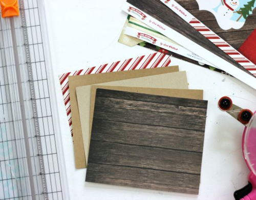 """Christmas Mini Ablum by designer Holly Gagnon featuring """"The Story of Christmas Collection"""" by #EchoParkPaper."""