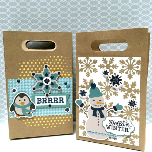 use our designer stencils to dress up gift bags echo park paper