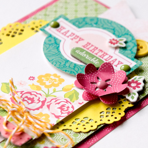 """Happy Birthday card by Tegan Skwiat featuring the """"Petticoats"""" collection and designer dies by #EchoParkPaper"""