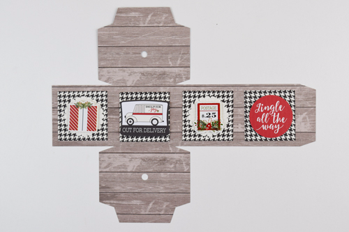 "3D Christmas Ornaments by Becki Adams with the ""Christmas Delivery"" collection by #CartaBellaPaper"