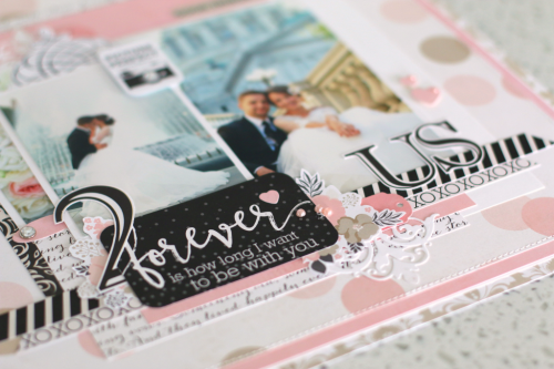 """Wedding Bliss"" collection layout by Anya Lunchenko for #EchoParkPaper"