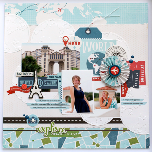 "Explore Layout by Anya Lunchenko featuring the ""Go. See. Explore."" collection from #EchoParkPaper"
