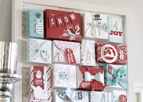 Christmas Countdown Week: Framed mini boxes by Anya Lunchenko for #EchoParkPaper and #CartaBellaPaper