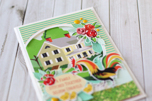 """Farm Scenery card by Anya Lunchenko with the """"Welcome Home"""" collection by #CartaBellaPaper"""