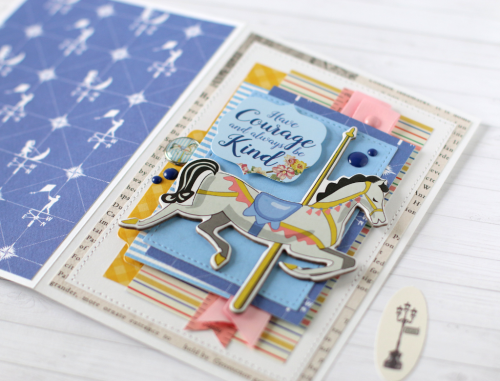 """Have Courage card by Anya Lunchenko with the """"Practically Perfect"""" collection by #CartaBellaPaper"""