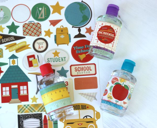 "Cute Hand Sanitizer Gift for Teachers by Holly Gagnon featuring the ""Teacher's Pet"" collection by #EchoParkPaper"