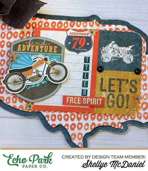 """Off Road"" Signage by Shelly McDaniel with the ""Off Road"" collection by #EchoParkPaper and Silhouette Cut file"