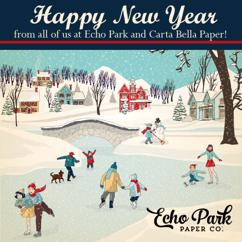 2016 New Year from #EchoParkPaper and #CartaBellaPaper
