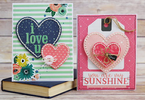 "Valentines Cards by Becki Adams with the Flora No. 1 collection by #CartaBellaPaper for ""A Week of Love"" #EchoParkPaper"