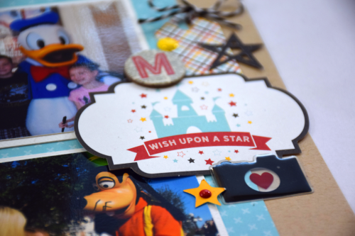 "Disney layout by Tya Smith with the ""Magic & Wonder"" collection by #EchoParkPaper"
