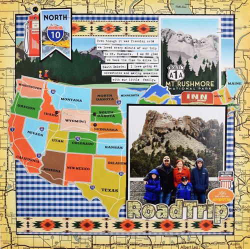 "Road Trip Layout by Becki Adams featuring the ""Are We There Yet?"" Collection by #CartaBellaPaper"