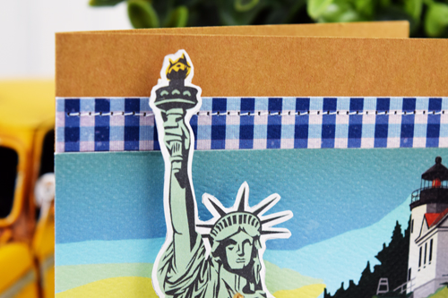 "Adventure Awaits card by Becki Adams featuring the ""Are We There Yet?"" Collection by #CartaBellaPaper"